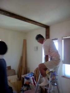天井留めのときは父の手を借りました♪